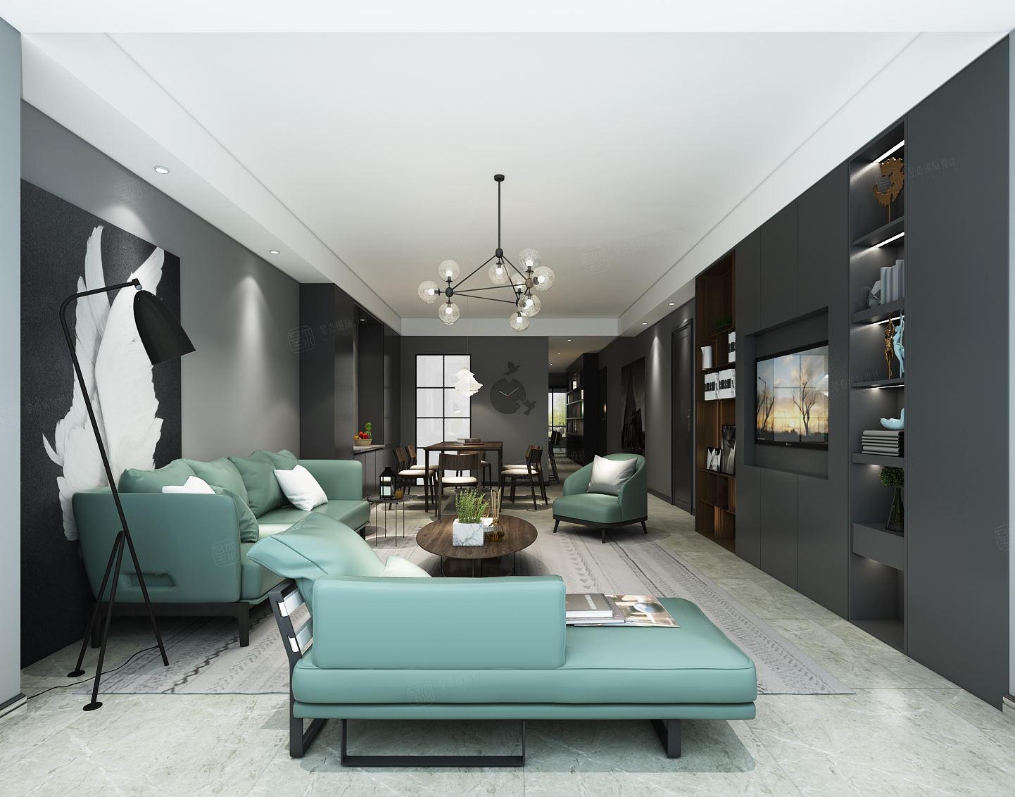 高尚领域 现代时尚装修客厅效果图