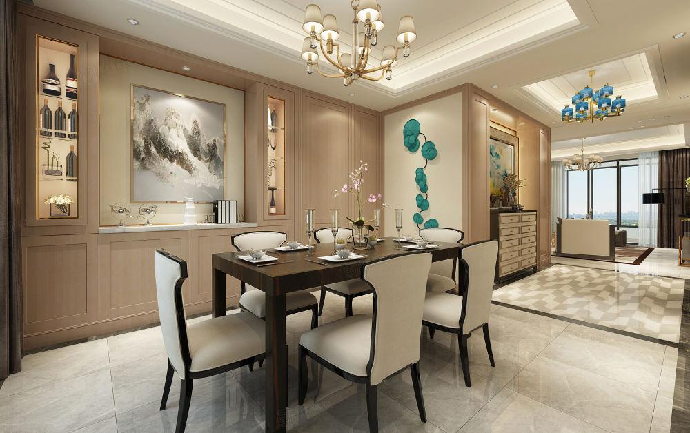 尚汇豪庭 现代简约装修餐厅效果图
