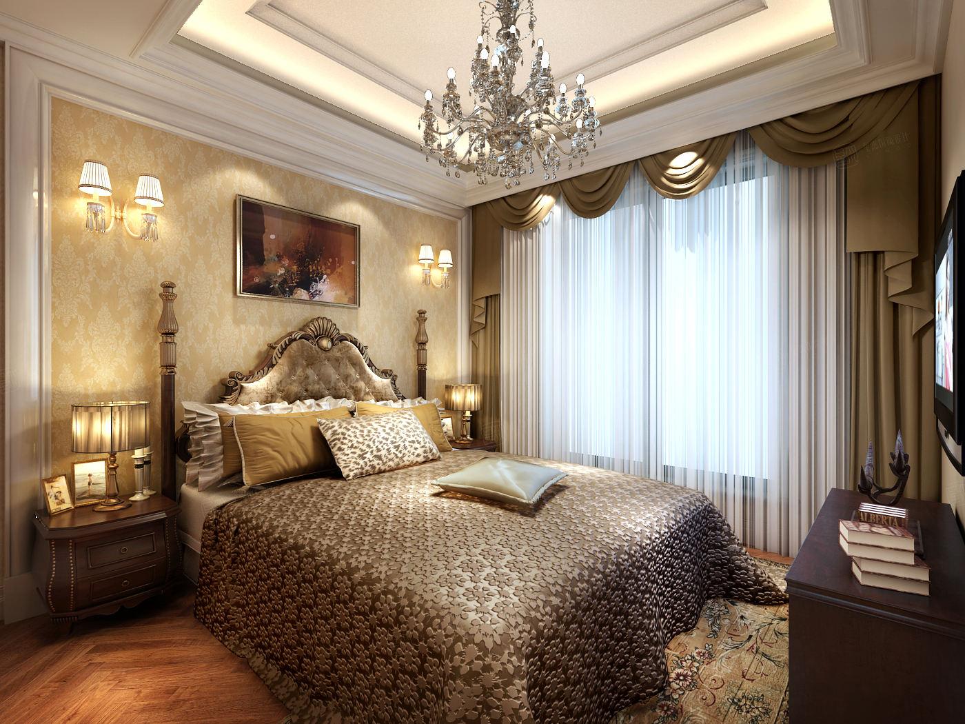 海上纳堤 简欧装修卧室效果图