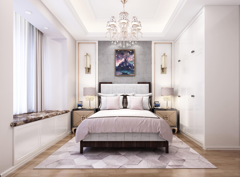 中环国际公寓 奢华欧式装修女孩房效果图