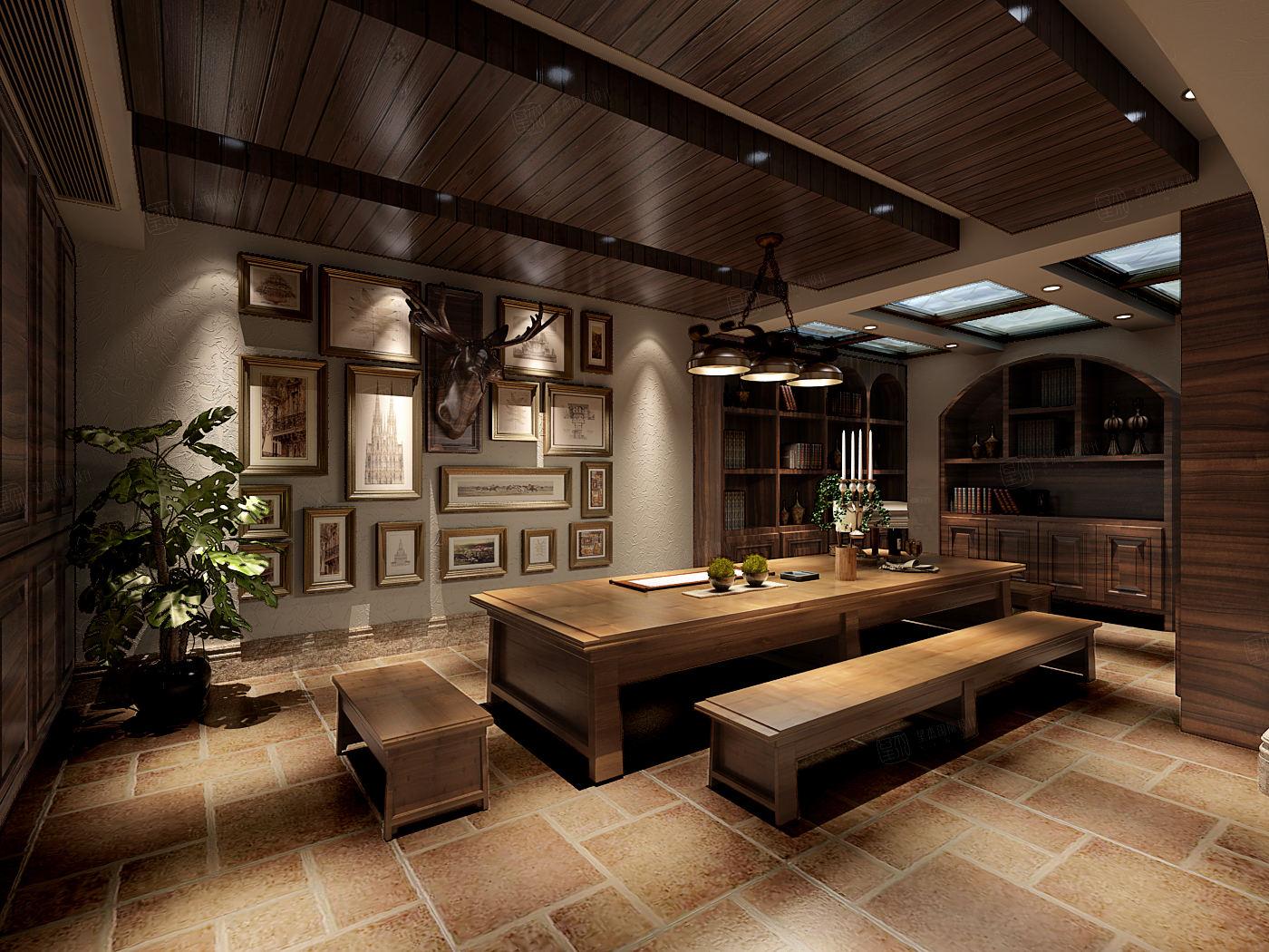 同润圣塔路斯 异域风情装修茶室效果图