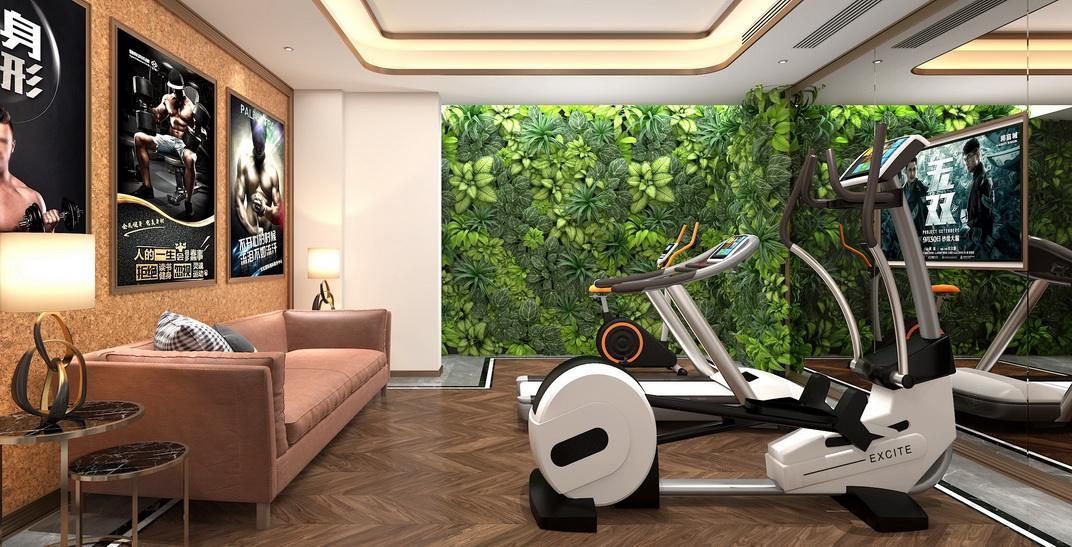 北上海 港式轻奢装修健身房效果图