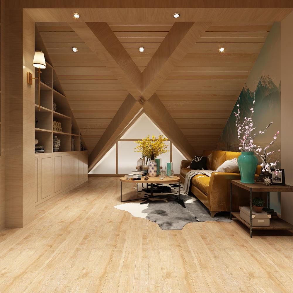 简美风格-依水和墅装修阁楼效果图