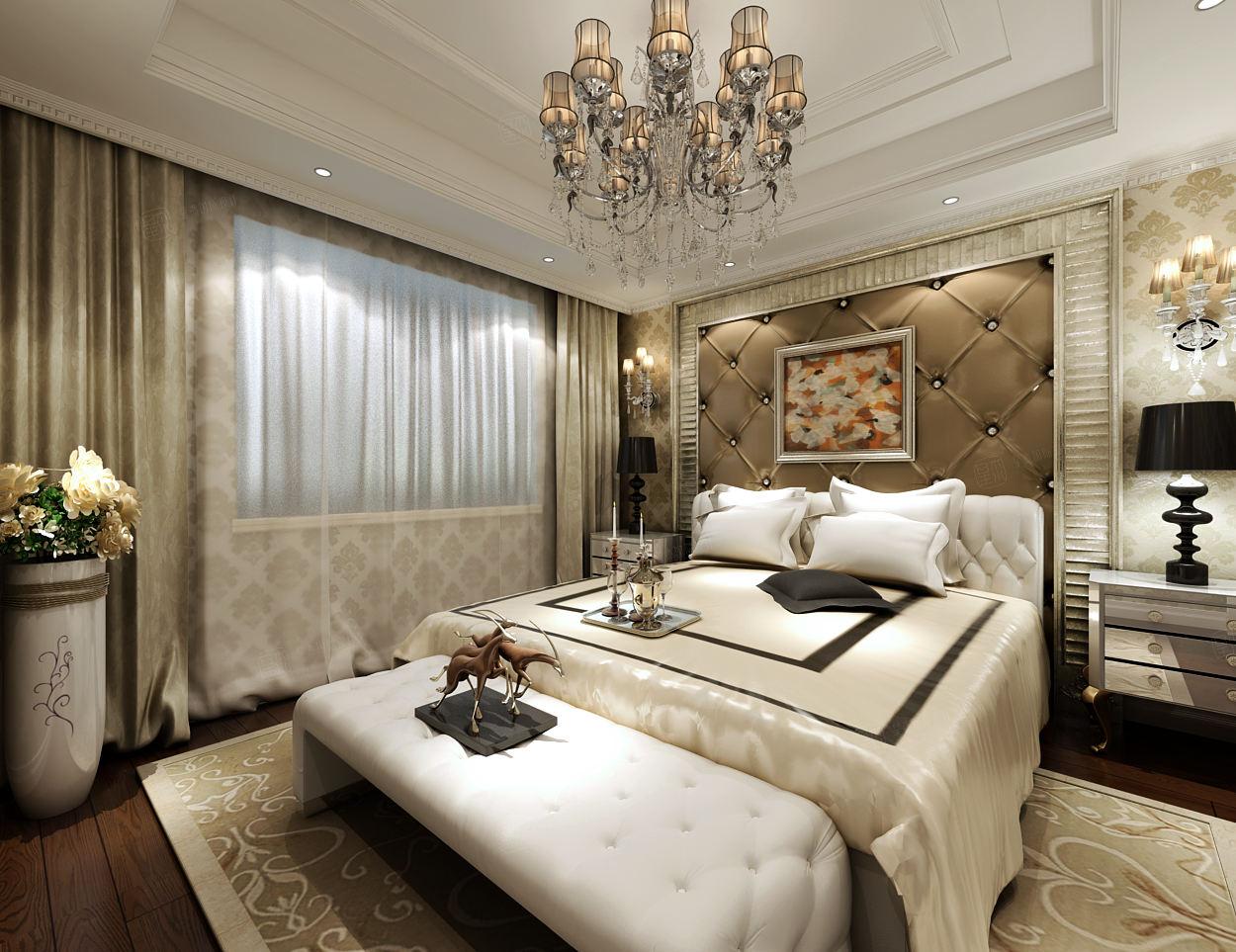 宝华现代城 新古典装修卧室效果图