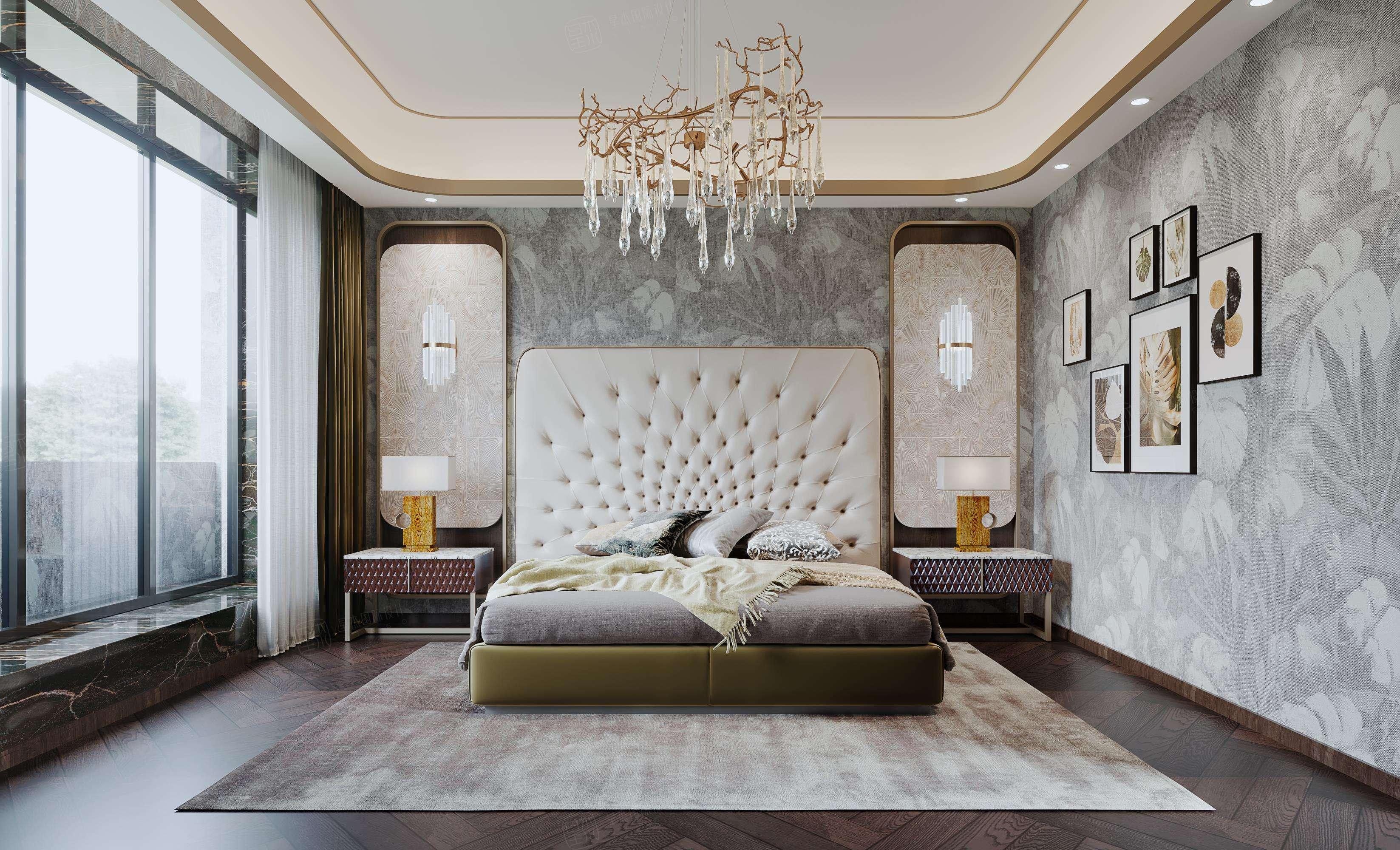 尚海格调-轻奢室内先生的精睿墅装修卧室效果图