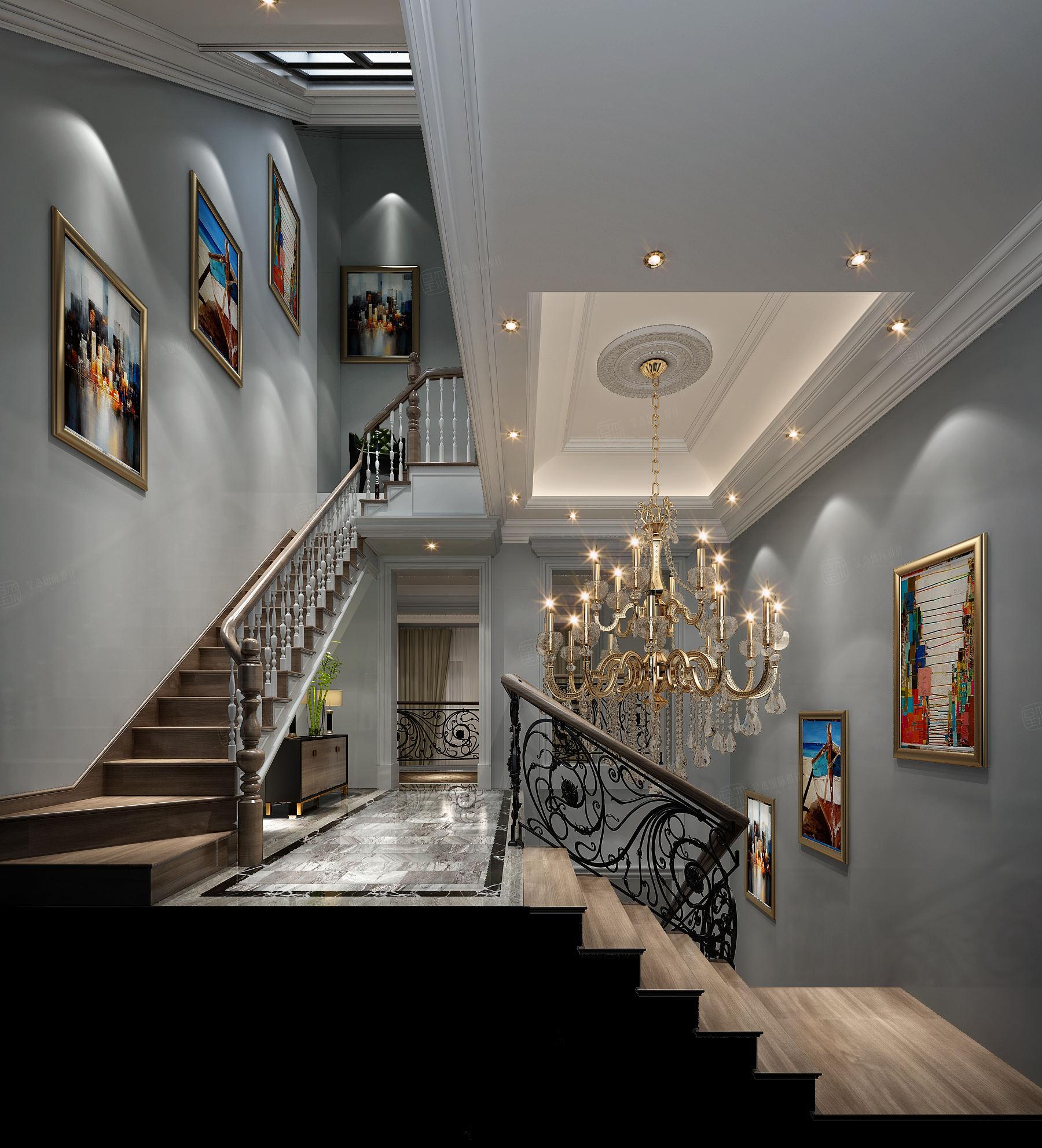 安墁西郊 现代简约装修楼梯效果图