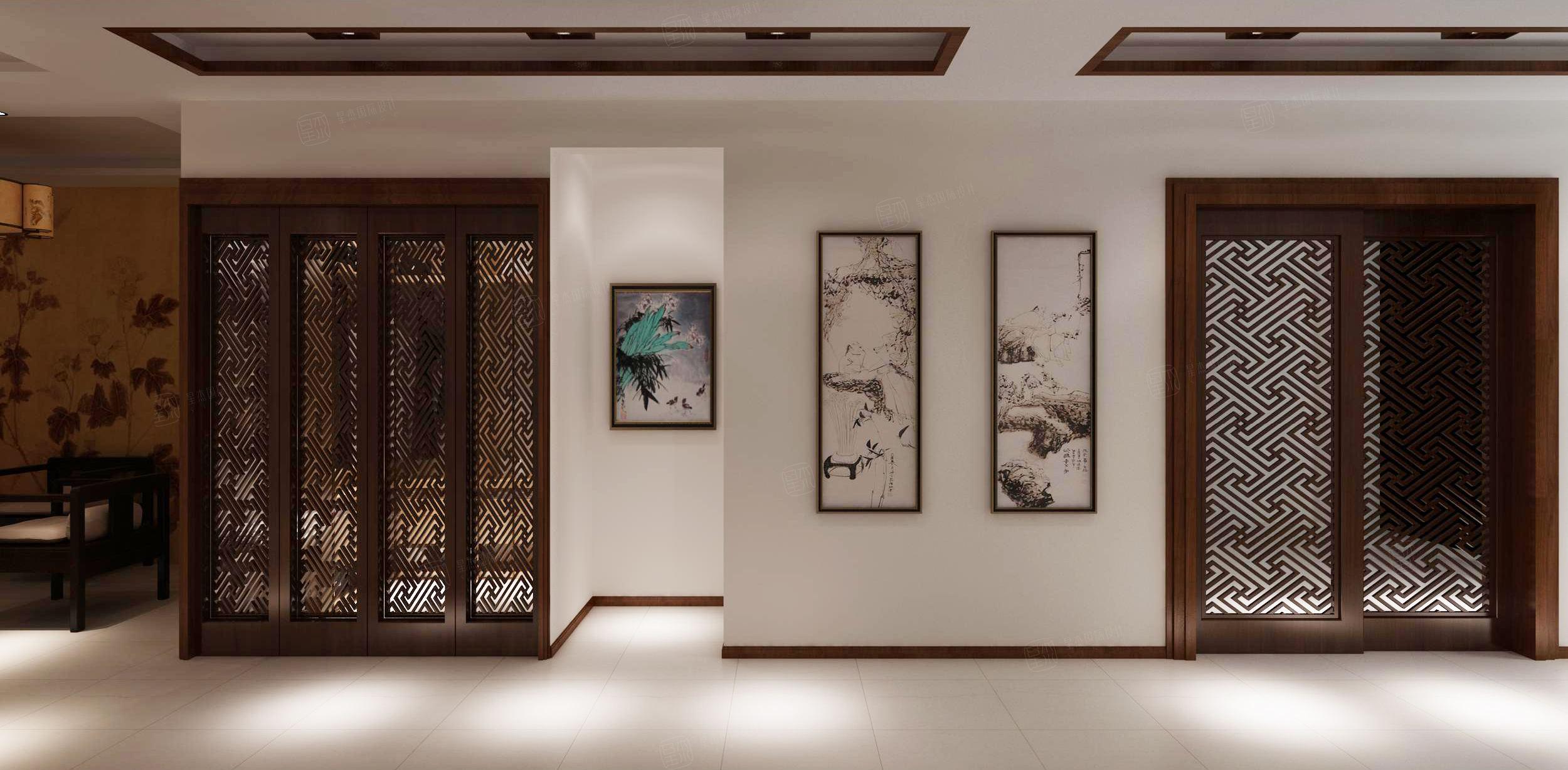 宾根花园 中式装修门厅效果图