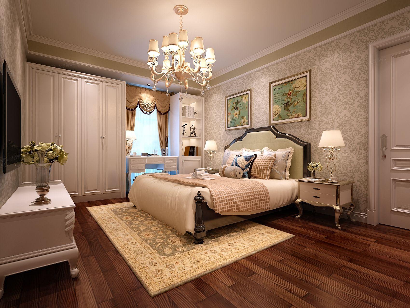 新古典_同城世家装修卧室效果图