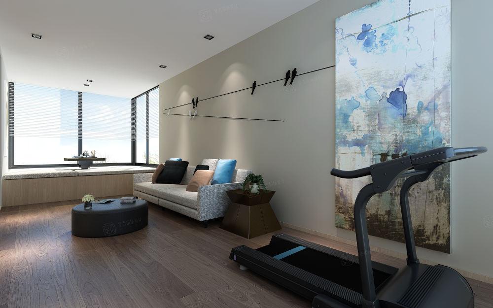 爱伦坡 现代简约装修客厅效果图