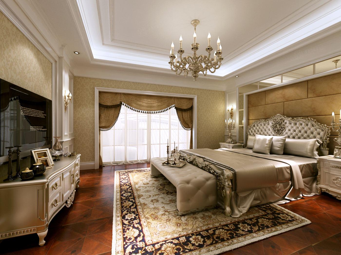 向东岛 欧式装修卧室效果图
