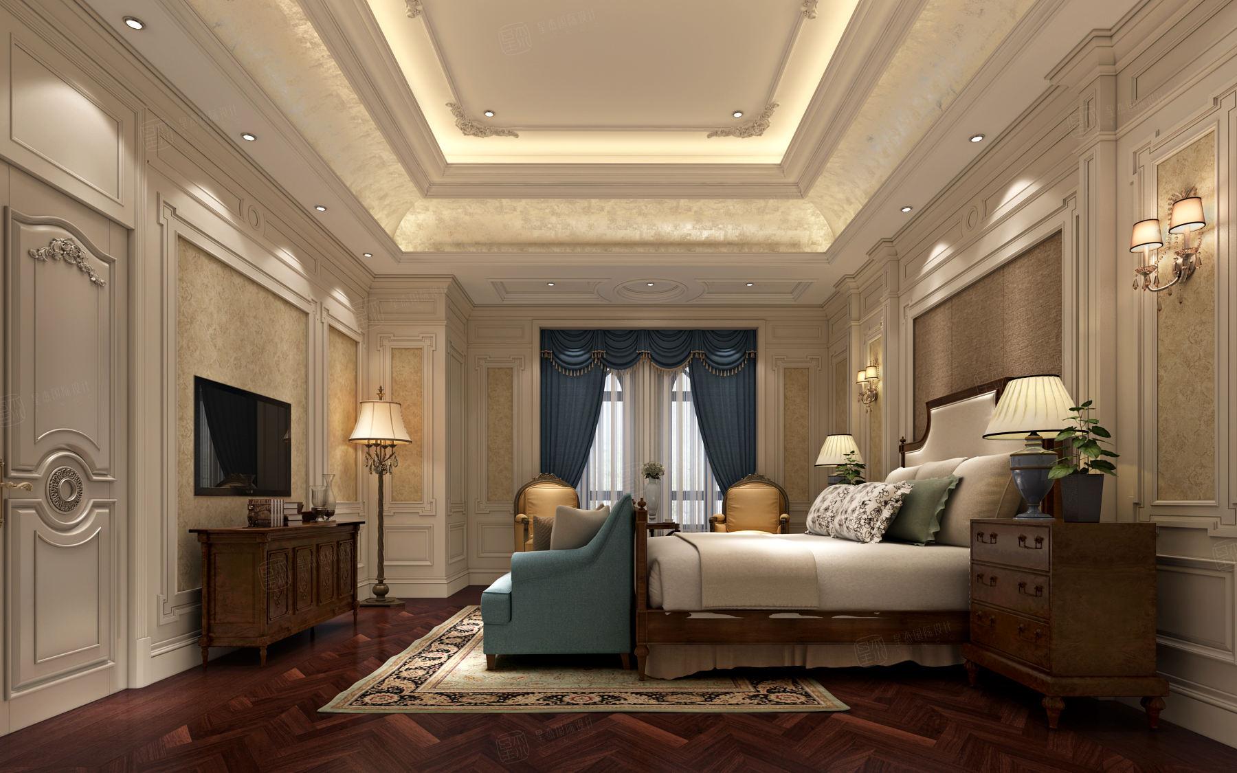 东郊罗兰 欧式装修卧室效果图