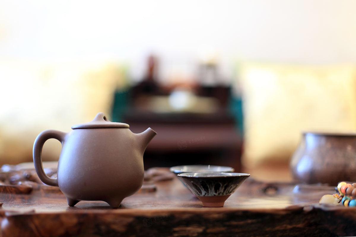 金地未未来 中式装修茶室效果图