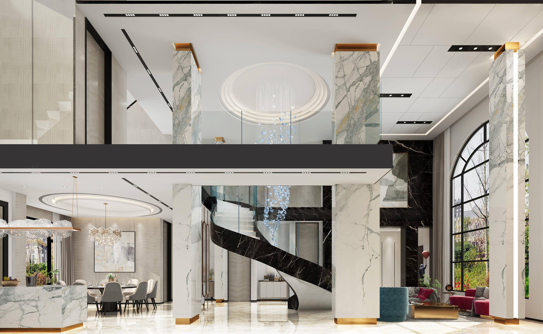 万科翡翠 现代装修客厅效果图