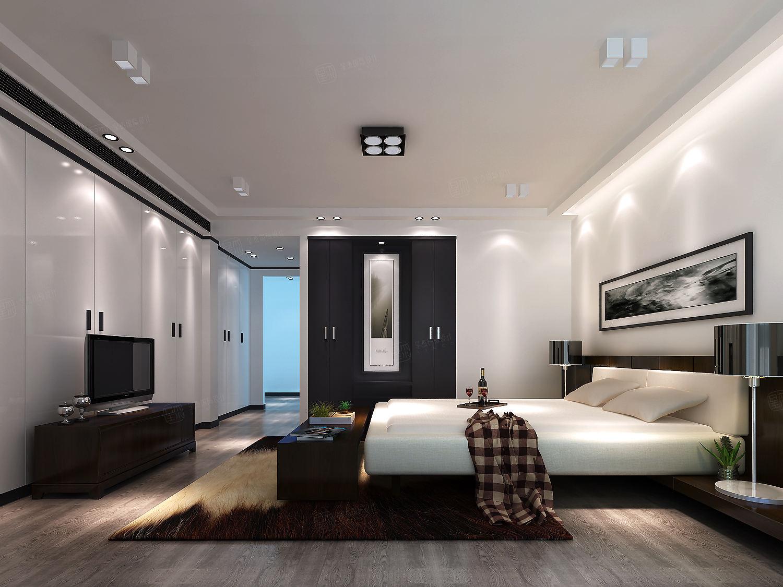 万科燕南园 现代简约装修卧室效果图