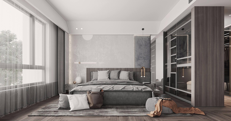 绿洲比华利  现代简约装修卧室效果图