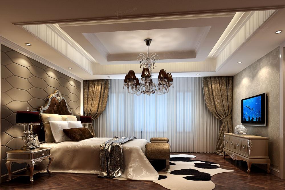 金鸡湖一号_高标准生活模式装修卧室效果图