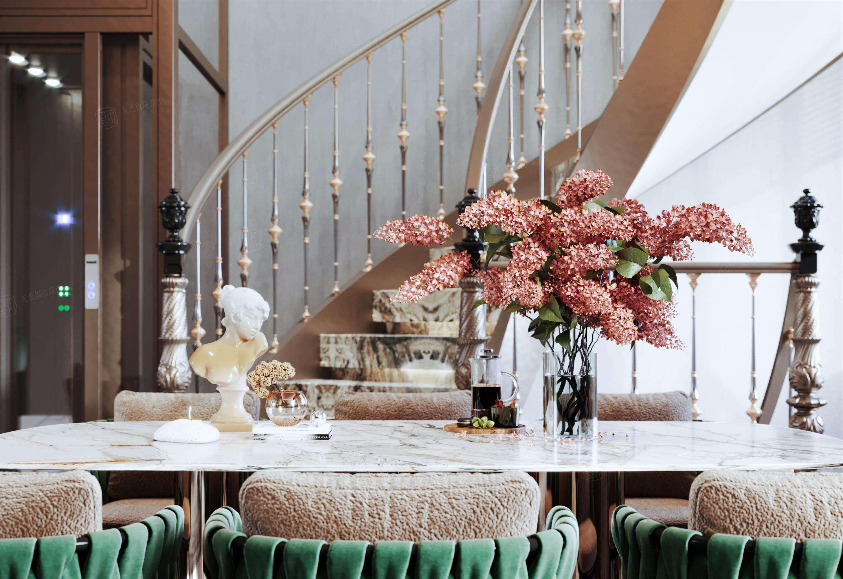 尚海格调-轻奢室内先生的精睿墅装修楼梯效果图