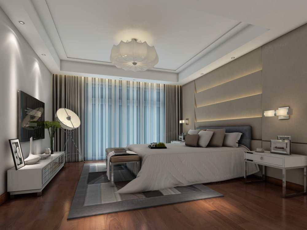 南郊中华园 现代简约装修卧室效果图
