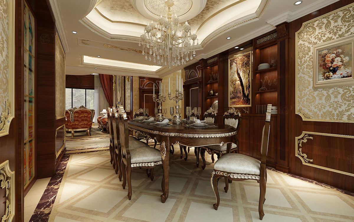 保利叶上海 欧式装修餐厅效果图