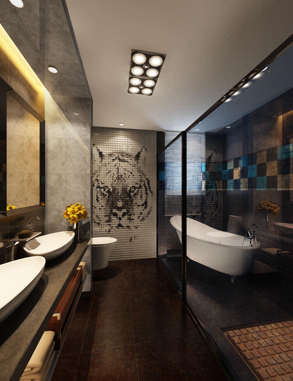 中建大公馆 现代简约装修浴缸效果图