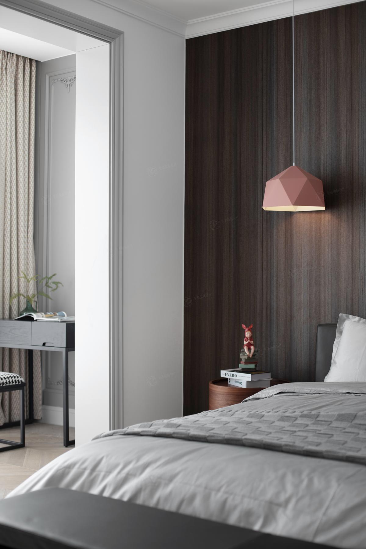 浪漫法式 绿地晶萃装修卧室效果图