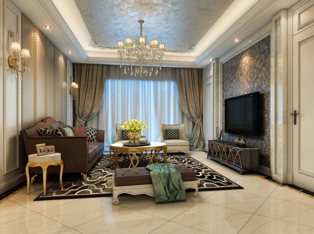 凯佳尊品国际 欧式装修客厅效果图