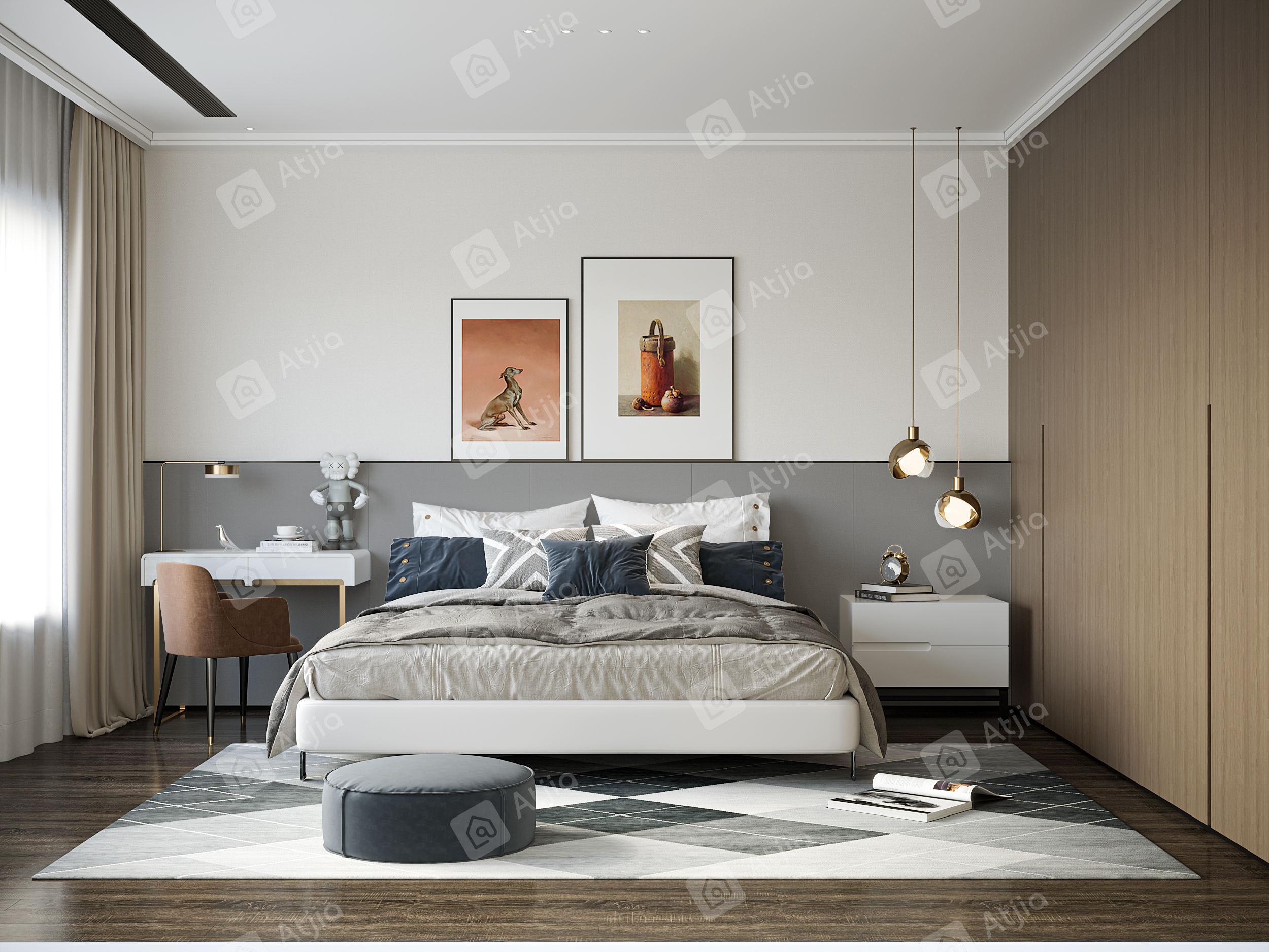 王丹艇  银亿朗境  现代轻奢装修卧室效果图