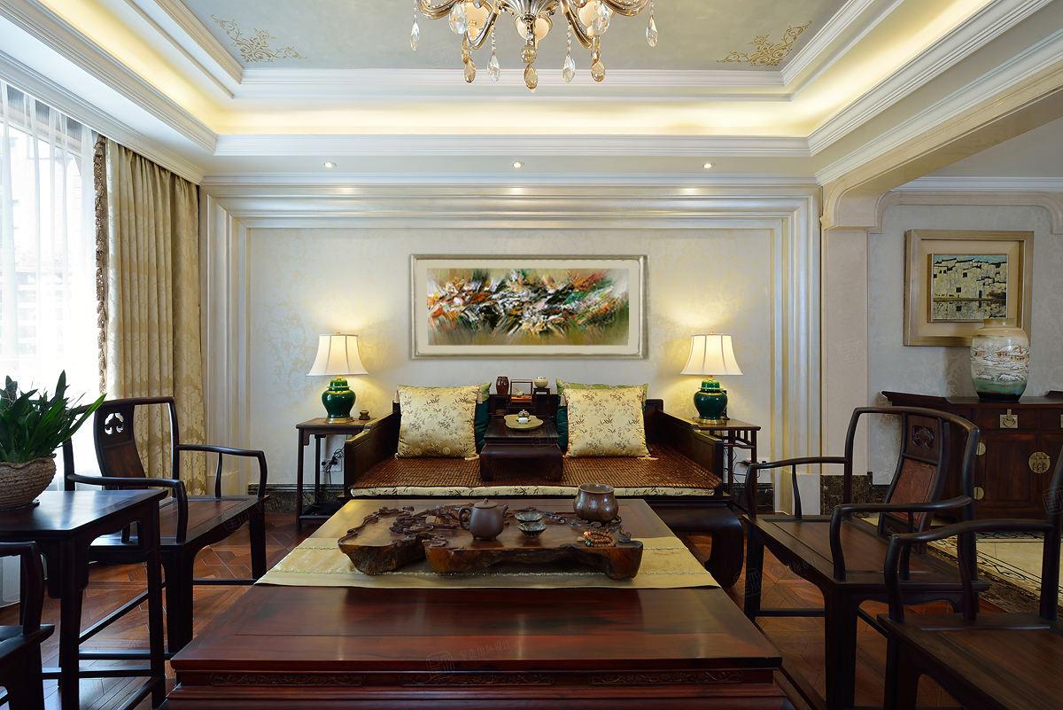 金地未未来 中式装修客厅效果图