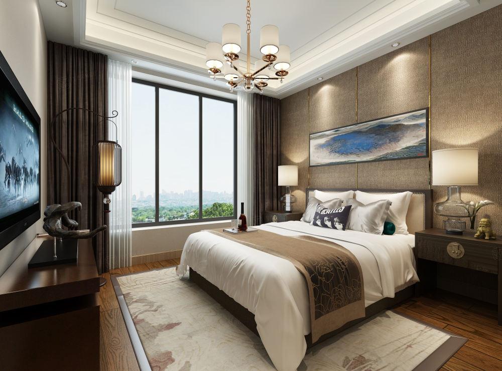 尚汇豪庭 现代简约装修卧室效果图