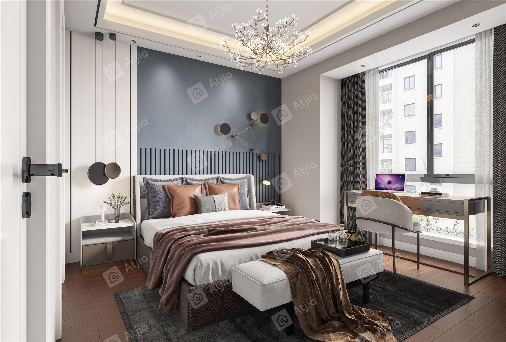 保利茉莉   新中式装修卧室效果图
