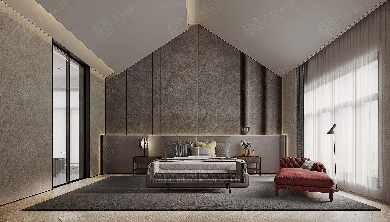 圣安德鲁斯  极简装修卧室效果图
