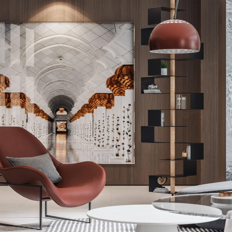 中星红庐   现代简约装修休闲厅效果图