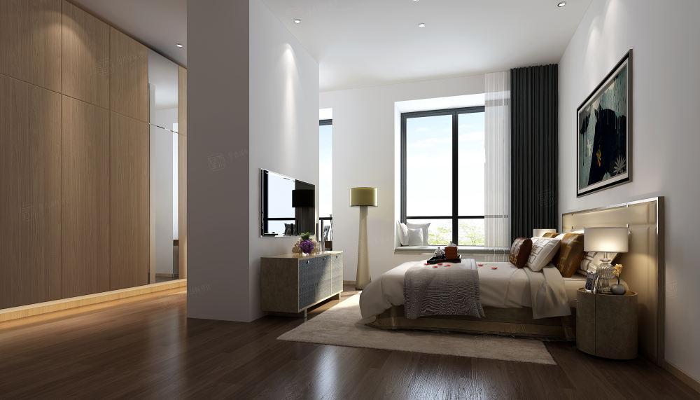 爱伦坡 现代简约装修卧室效果图