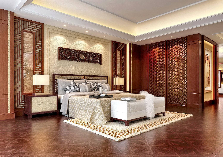 御翠园 中式装修卧室效果图