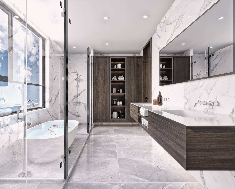 中星红庐   现代简约装修浴室效果图