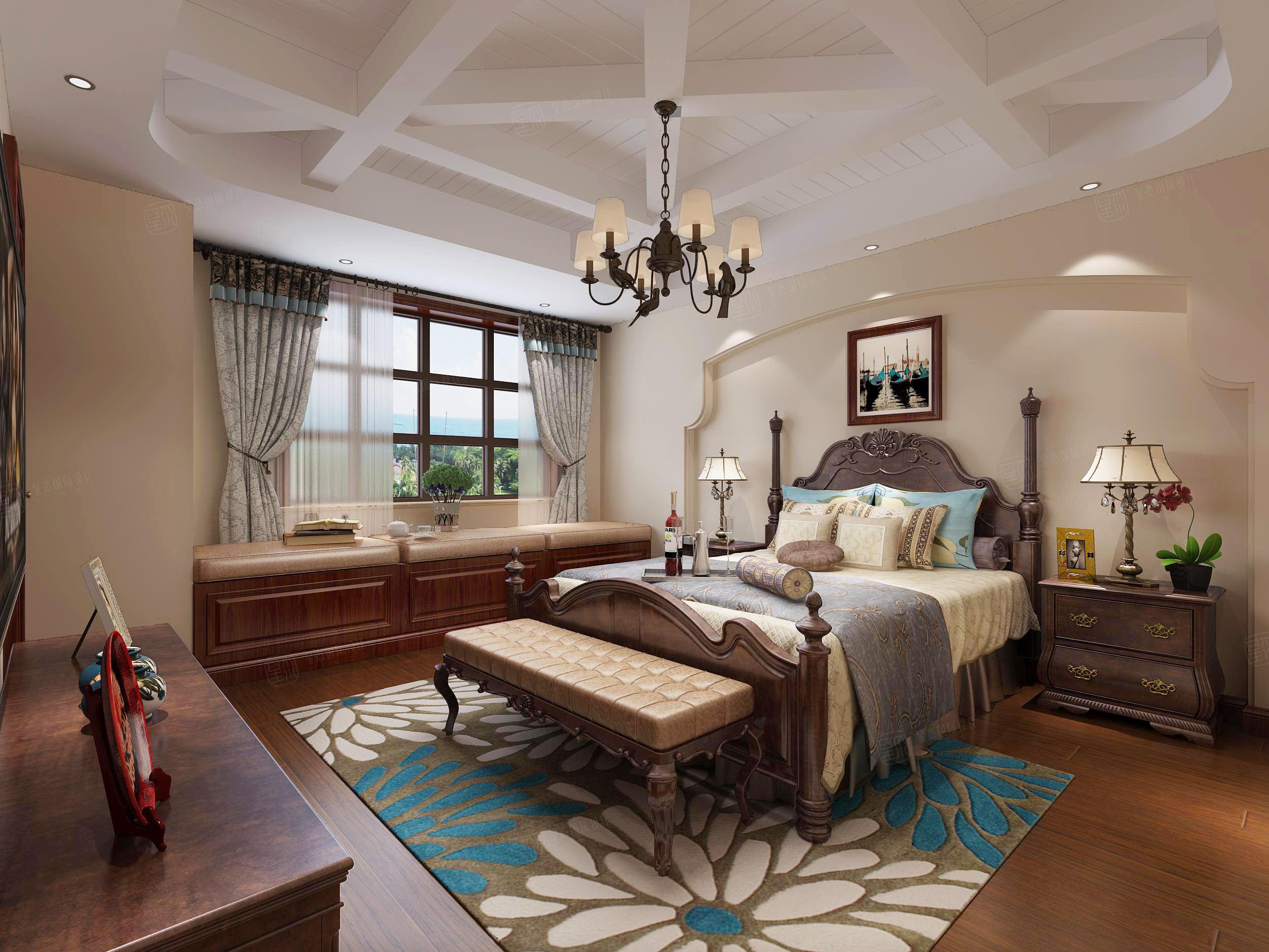 达安圣巴巴 地中海装修卧室效果图