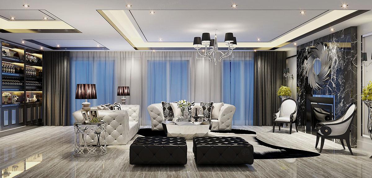 兰乔圣菲庄园 新古典装修客厅效果图