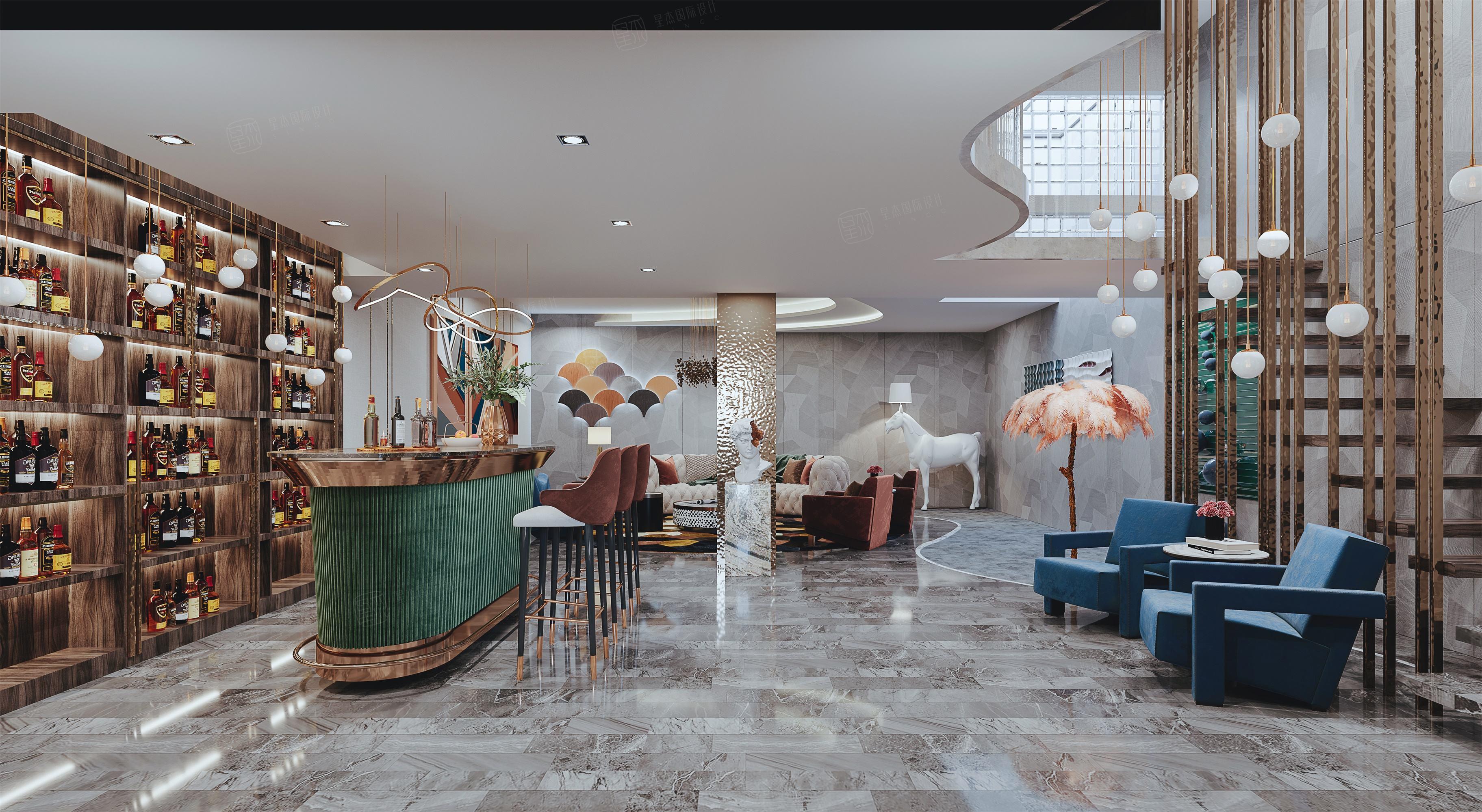 尚海格调-轻奢室内先生的精睿墅装修客厅效果图
