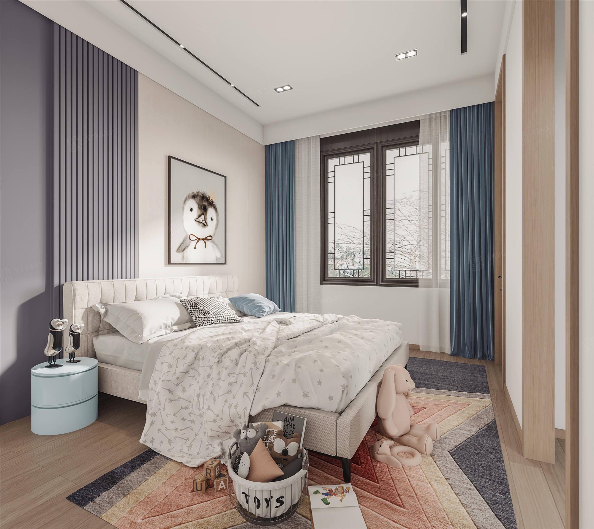 上海桃花源   现代风格装修卧室效果图
