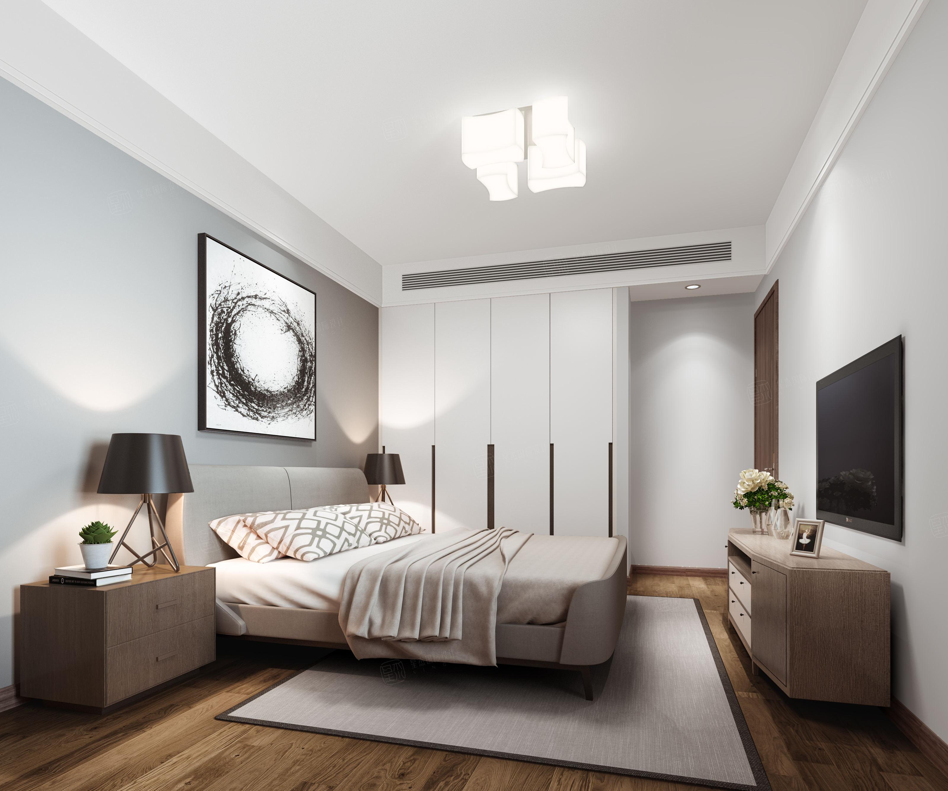 名都新城 北欧装修卧室效果图