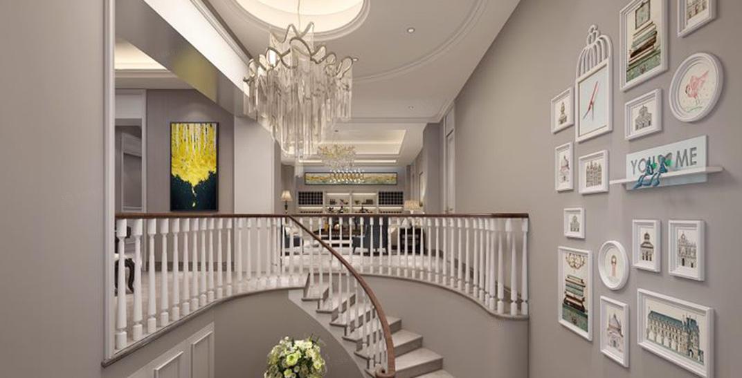 绿城兰园  美式装修楼梯效果图