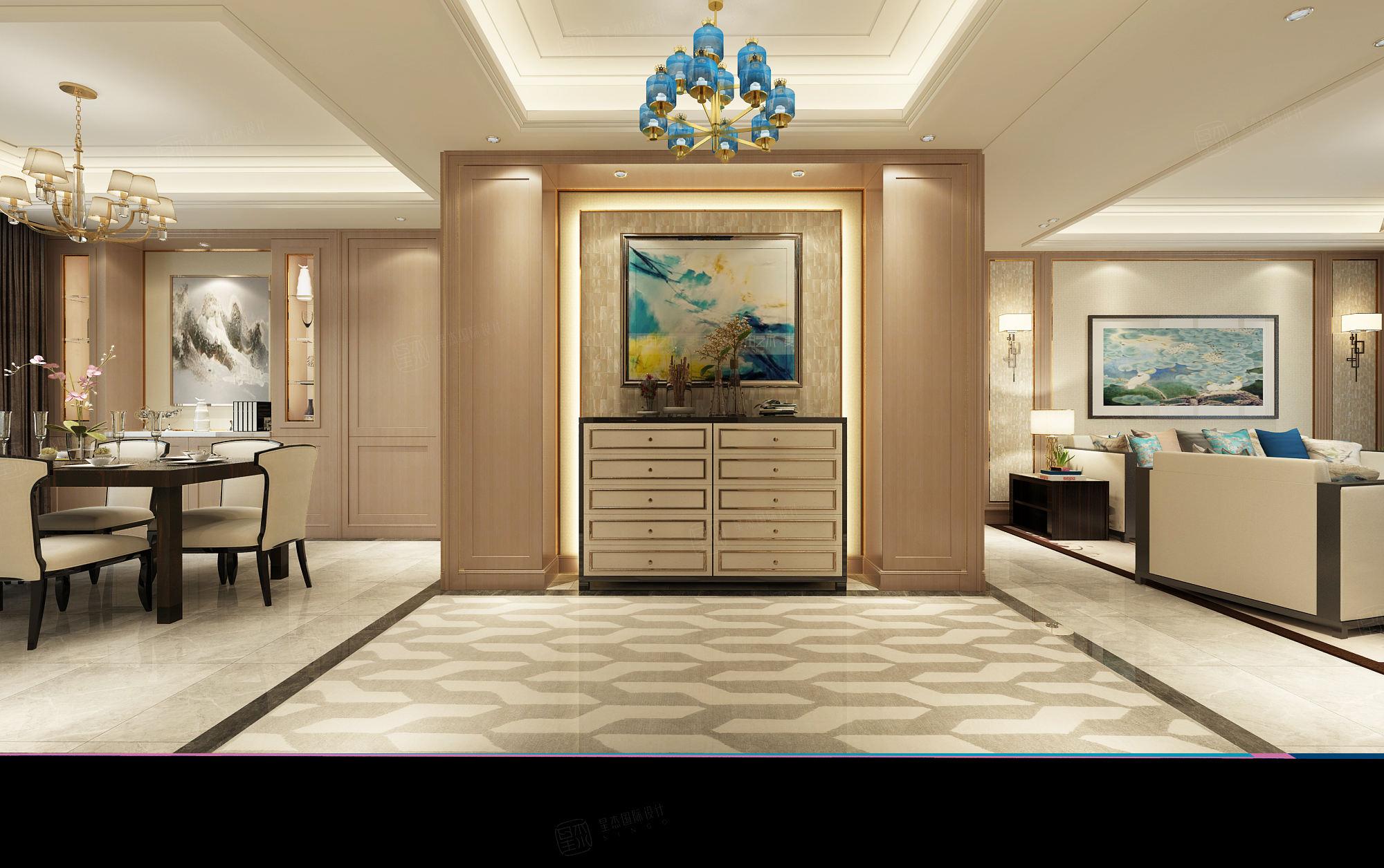尚汇豪庭 现代简约装修门厅效果图