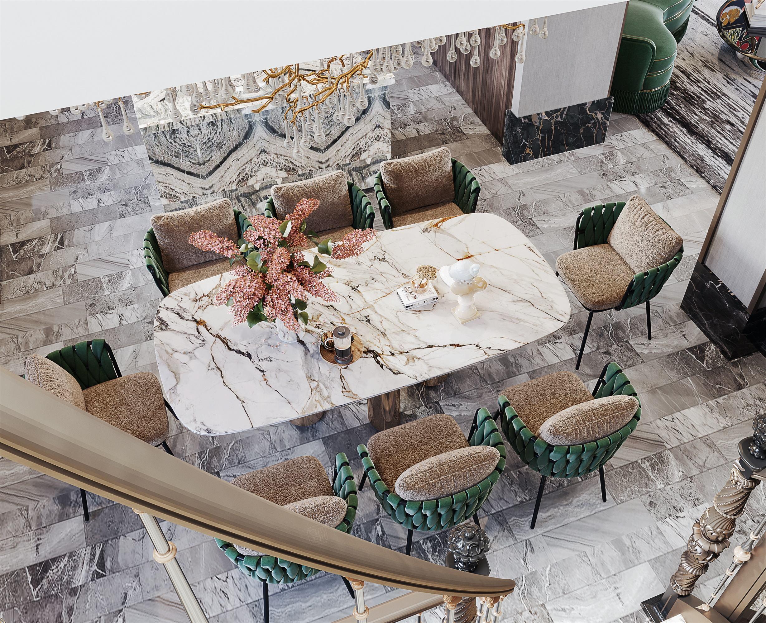 尚海格调-轻奢室内先生的精睿墅装修餐厅效果图