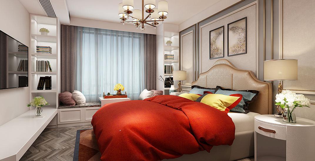 紫荆园   英式装修卧室效果图