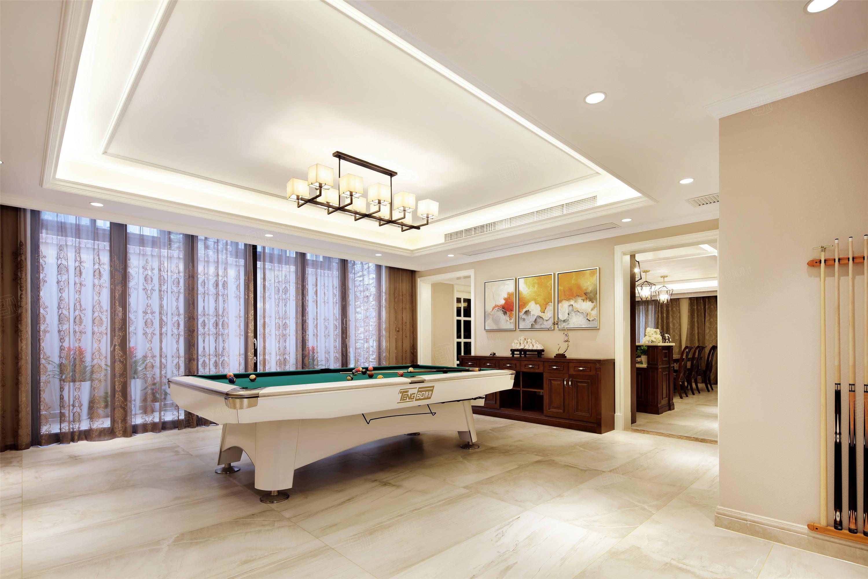上实和墅   美式装修台球室效果图