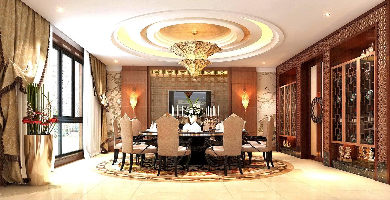 御翠园 中式装修餐厅效果图
