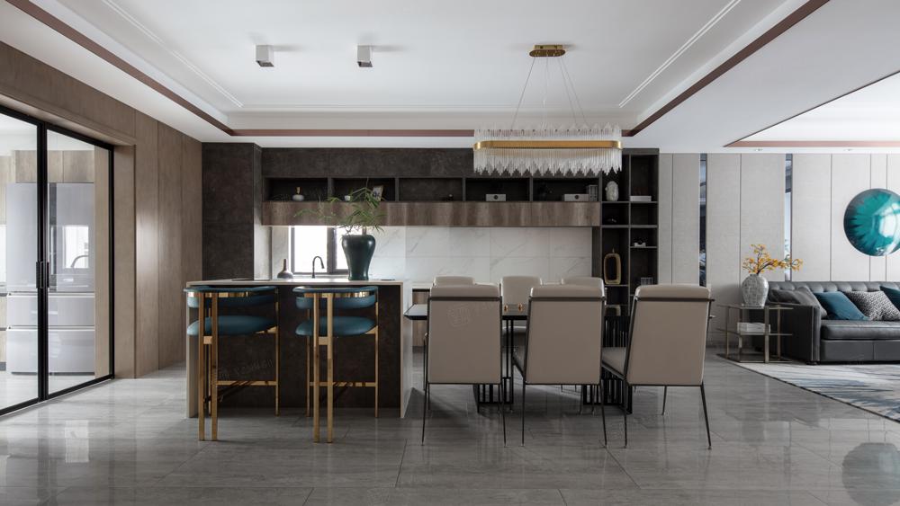 金科王府—轻奢有度装修餐厅效果图