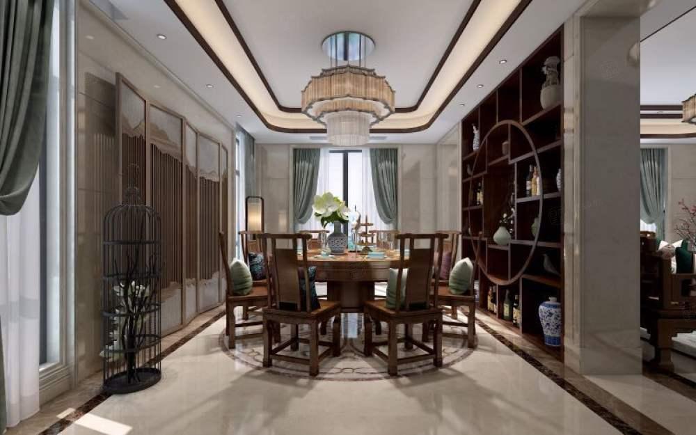 黄金水岸_中式高雅与简朴之美装修餐厅效果图