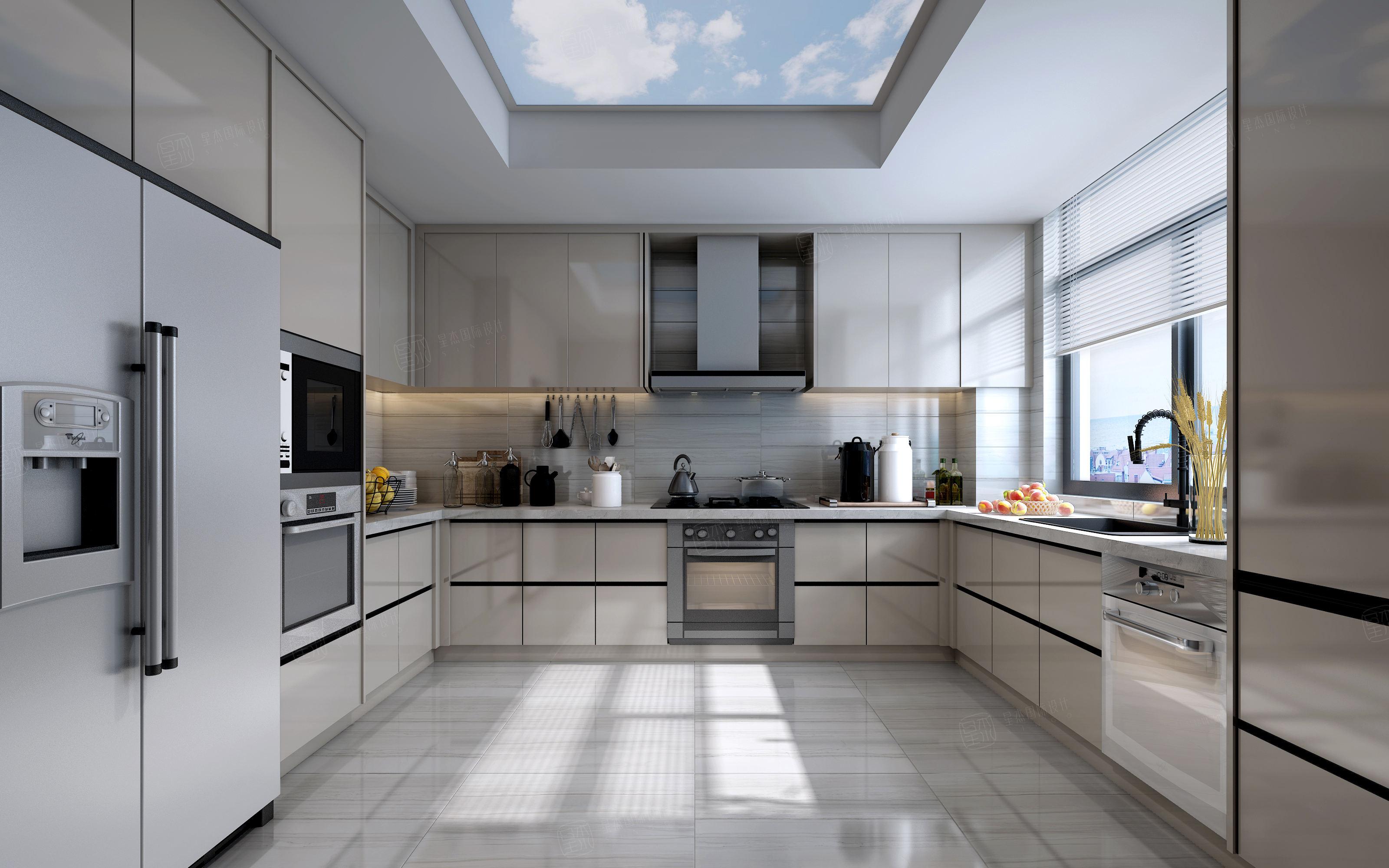 雅戈尔璞缇墅_以人为本的设计装修厨房效果图