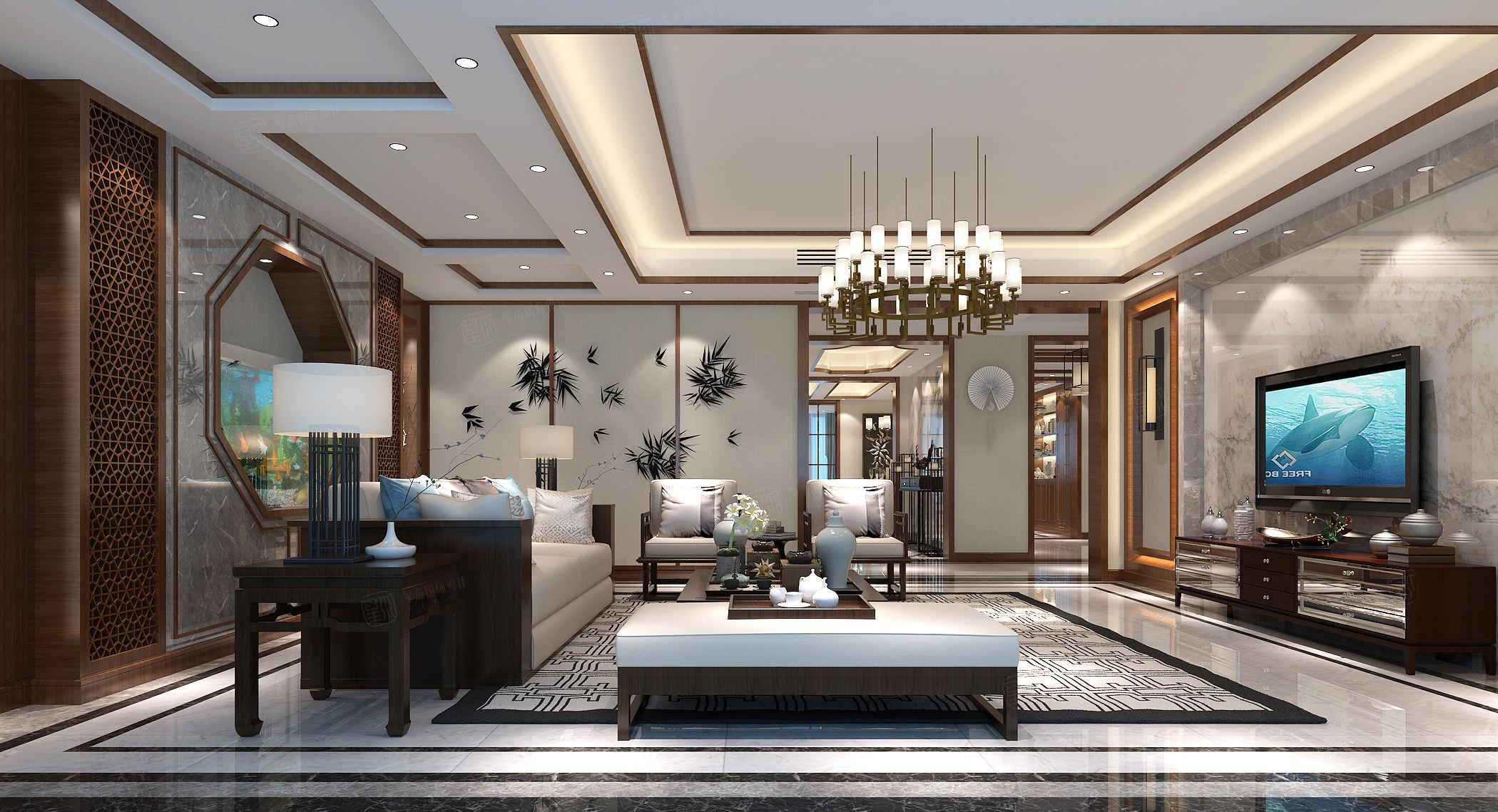 奥林清华_温馨与舒适装修客厅效果图
